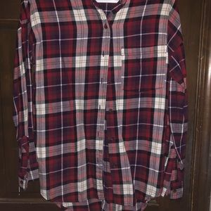 Old Navy Tops - Multi color plaid top, boyfriend fit, Small
